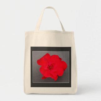 BLUTROTE ROSE Bio Lebensmittelgeschäft-Tasche Tragetasche