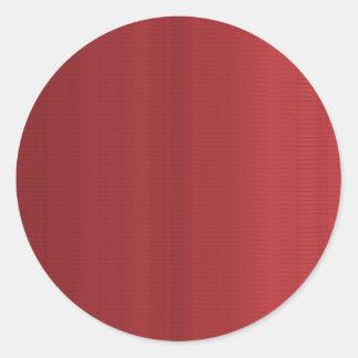 Blutrote Schatten-Streifen Runder Aufkleber
