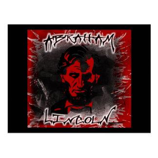 Blutroter Horror-Stern Lincolns Postkarte