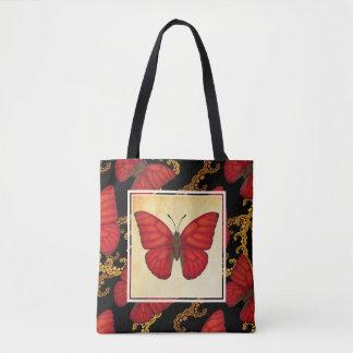 Blutroter Segelflugzeug-Schmetterling Tasche