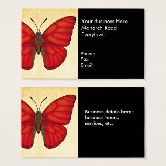 Blutroter Segelflugzeug-Schmetterling Visitenkarte