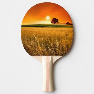 Blutroter Sonnenuntergang Tischtennis Schläger