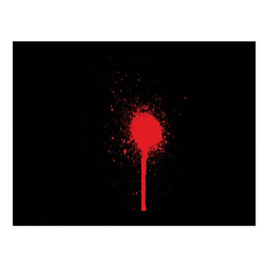 Blutspitzer blood splatter postkarte
