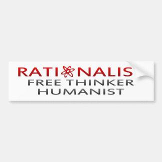Bmp-rationalistischer, freier Denker, Humanist Autoaufkleber