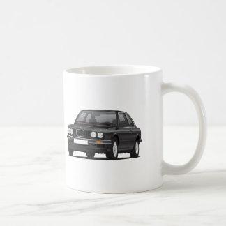 BMW 3 Reihe, E30, Illustration, schwarz Kaffeetasse