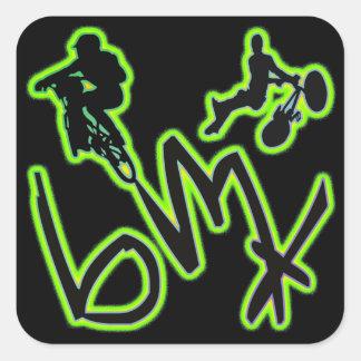 BMX Quadrat-Aufkleber