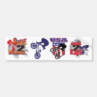 BMX Radfahrer Autoaufkleber