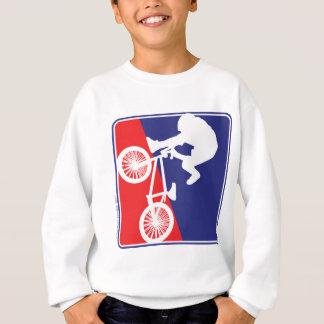 BMX Radfahrer-rotes weißes und blau Sweatshirt