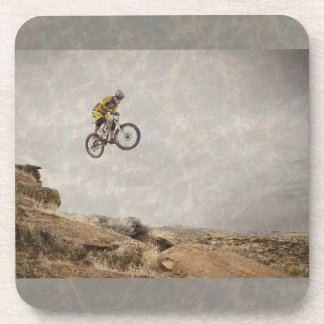 BMX Radfahrer-springende Foto-harte Untersetzer