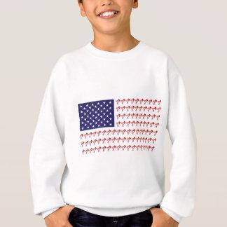 BMX Reiter - patriotische amerikanische Flagge+ Sweatshirt