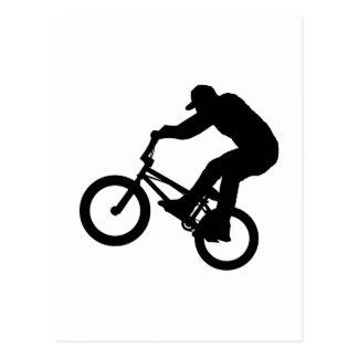 BMX Reiter Postkarte