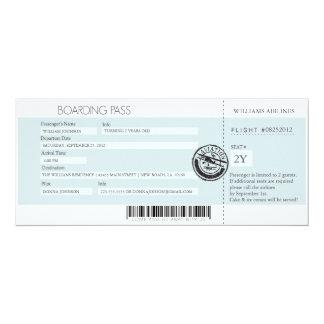 Boarding-Durchlauf (heutiger bester Preis) 10,2 X 23,5 Cm Einladungskarte