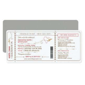 Boarding-Durchlauf-Karten-Hochzeits-Einladung Karte
