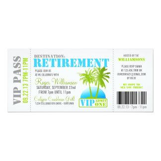 Boarding-Durchlauf-Ruhestands-Party Einladung