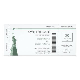 Boarding-Durchlauf-Save the Date Einladungen