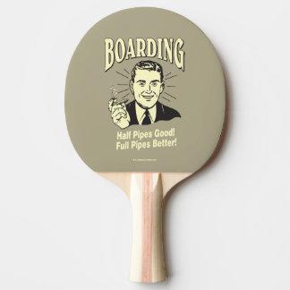 Boarding: Gutes volles besseres des halben Rohres Tischtennis Schläger