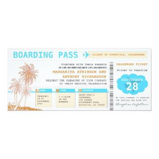 Boardingdurchlauf-Hochzeit in Urlaubsortskarten 10,2 X 23,5 Cm Einladungskarte
