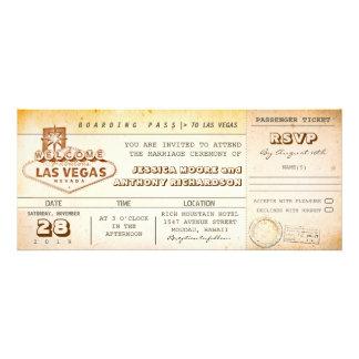 Boardingdurchlauf-Hochzeit Karteeinladung LAS Einladungen