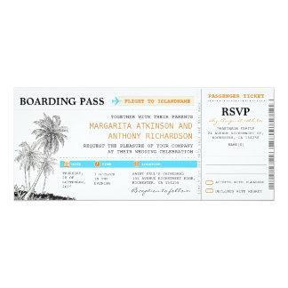 Boardingdurchlauf-Hochzeitskarten mit UAWG 10,2 X 23,5 Cm Einladungskarte