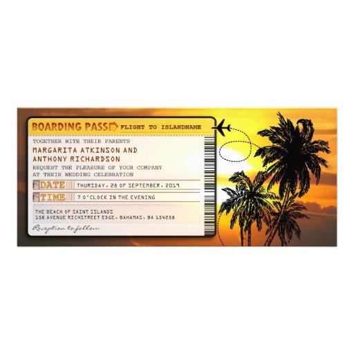 Boardingdurchlaufhochzeit Karte-lädt mit Ankündigung
