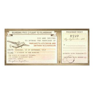 Boardingdurchlaufkarten - Vintage Ankündigungskarte