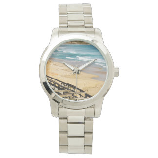 Boardwalk_To_Paradise_Large_Unisex_Silver_Watch. Uhr
