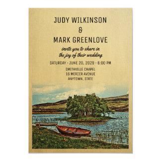 Boat See-Hochzeits-Einladungs-Vintage Natur Karte