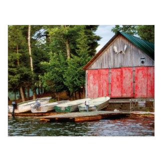 """""""Boathouse"""", Kanada draußen gestalten Foto Postkarte"""