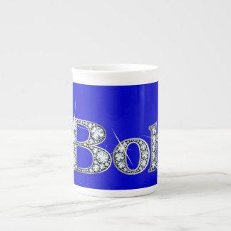 """Bob-""""Diamant Bling"""" Knochen-China-Tasse Porzellantasse"""