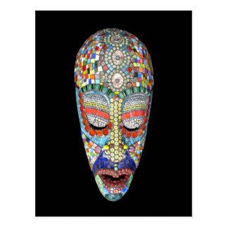 Bob, warum das lange Gesicht? Mosaik-Maske Postkarte