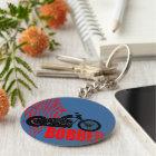 Bobber-Motorrad Schlüsselanhänger