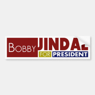 Bobby Jindal für Präsidenten V1 Autoaufkleber