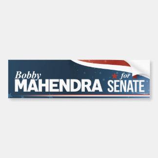 Bobby Mahendra für Senat Autoaufkleber