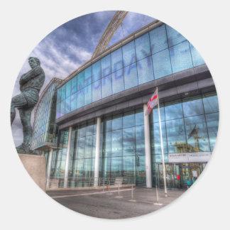 Bobby Moore-Statue-Wembley Stadium Runder Aufkleber