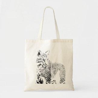 Bobcat-Porträt-Tasche Tragetasche