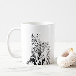 Bobcat-Porträt-Tasse Kaffeetasse