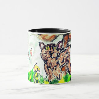 Bobkatzenkunst Tasse