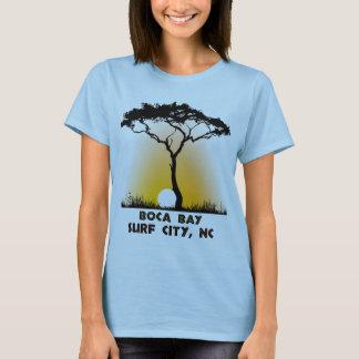 Boca Bucht-Brandungs-Stadt NC T-Shirt
