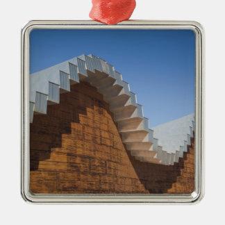 Bodegas Ysios Weinkellerei Quadratisches Silberfarbenes Ornament