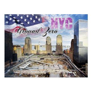 Bodennullpunkt, Manhattan, New York City Postkarte