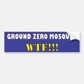 Bodennullpunkt-Moschee? WTF?! Autoaufkleber