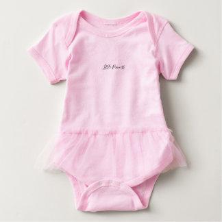 Body mit Aufschrift und Tutu Baby Strampler