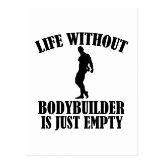 Bodybuilder   entwürfe postkarte