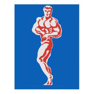 Bodybuilder Postkarte
