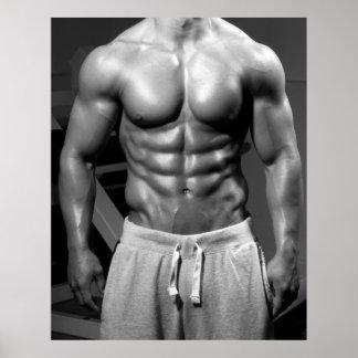 Bodybuilder-Turnhallen-Wand u. Fitnessstudio-Plaka Poster