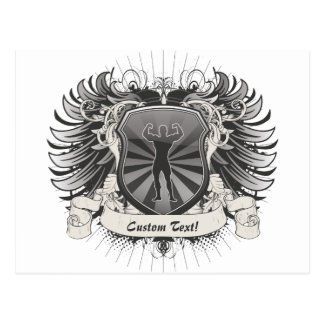 Bodybuilder-Wappen Postkarte