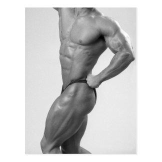 Bodybuilder, wenn Anzugs-Postkarte aufgeworfen Postkarten