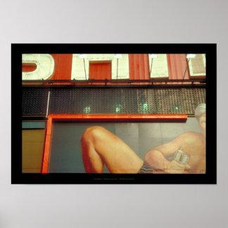 Bodybuildings-Fitness-Werbungs-Zeit-Quadrat NYC 2 Poster