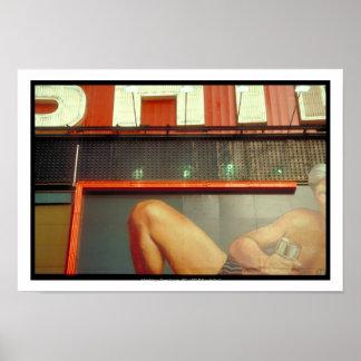 Bodybuildings-Fitness-Werbungs-Zeit-Quadrat NYC P Poster
