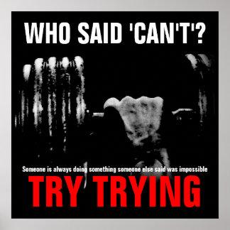 Bodybuildings-Fitness-Zitat-Erfolgs-Plakat-Druck Poster